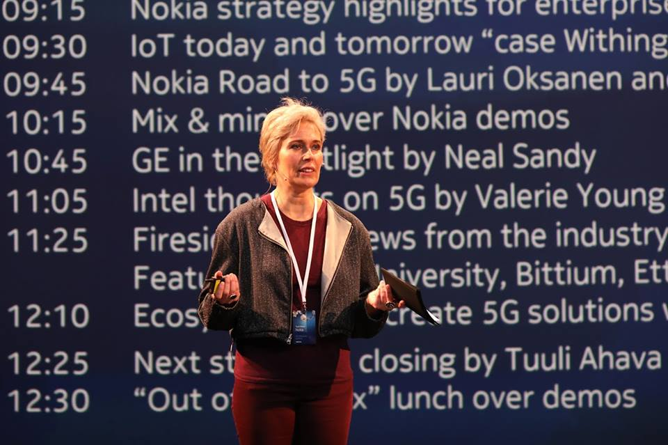 Tuuli Ahava, head of Industry Events Orchestration, and CTO for mobile networks opens the Nokia 5G Enterprise Summit