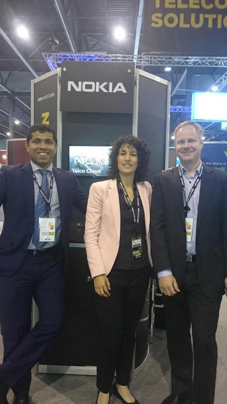 Jai Thattil, Ester Navarro and Tommy Lindgren at VMworld 2015.
